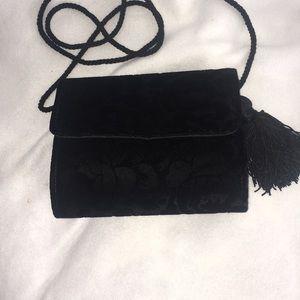Talbots mini crossbody velvet bag